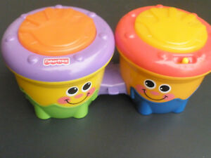 Fisher Price - Musical Toy Bongo Drums - Battery operated