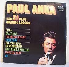 """2 x 33T Paul ANKA Disques LP 12"""" SES 21 + GRANDS SUCCES -DIANA - CRAZY LOVE RARE"""