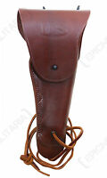 US Army Brown Leather M1916 COLT 1911 PISTOL HOLSTER - WW2 Premium .45 Gun Repro