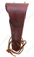 US Army Brown Leather PISTOL HOLSTER For M1916 COLT 1911 - WW2 .45 Gun Repro New
