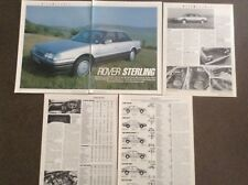 Rover 800 Sterling - Road Test Article - Motor Magazine 1986