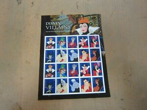 a sheet of 20 stamps Out of print US forever stamps Disney Villains