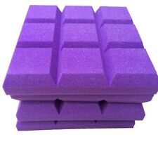 4 PCS Studio Sound Insulation Foam in Purple Color Sudoku Shape Acoustic foam