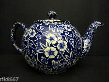 HERON CROSS poterie victorienne calico anglais CHINTZ 2 tasse tea pot