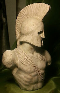 Greek Sculpture King Leonidas of Sparta Statue Art Ornament Decor Figurine 38 cm