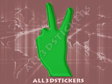 Pegatina Simbolo Victoria 3D Relieve - Color Verde