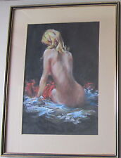"""A Costain~collectable original painting~""""Figure Study""""~gallery framed"""