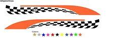 Checkered Flag Decals Harley Truck Cargo RV Trailer Orange/Black Bike V-Twin Hog