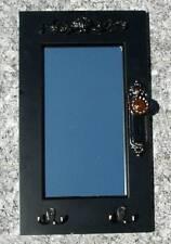 Spiegel außergewöhnliches Design Tür schwarz mit Schlüssel-Haken und Türknauf