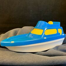 """Vintage Usa Toy Processed Plastic Cabin Cruiser 3156 Yacht 10"""" Blue Speed Boat"""
