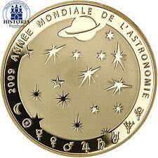 Frankreich 50 Euro Astronomie Gold 2008 Goldmünze 40 Jahre Erste Mondlandung