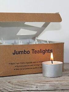 Heaven Scent Natural Jumbo Long Life 7HR Unscented Tea Lights 24 Multi Buy Save