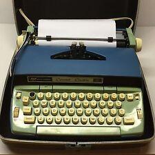 Retro Vintage Electric Typewriter Smith Corona Coronet Electric 10 Blue / Green
