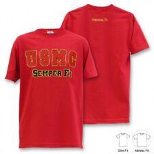 US MARINES CORPS SEMPER FI USMC Army Marine Military tshirt shirt Red XXLarge