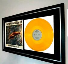 More details for the stone roses original 12 in single 'fools gold' in gold vinyl-very rare!!