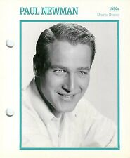 Paul Newman 1950's Actor Movie Star Card Photo Front Biography on Back 6 x 7""