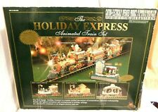 F2- Holiday Express Large Animated Train Set - MIB - 6 Cars, G-Scale