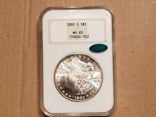 1880-S NGC/CAC MS65 Morgan Silver Dollar Very Nice Rim Toning
