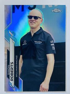 2020 Topps Chrome Formula 1 Racing Simon Roberts Williams Racing Refractor #87