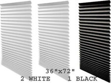 """REDI Shade 2 WHITE Light Filtering 1 BLACK Out Cordless Paper Pleated 36"""" x 72"""""""