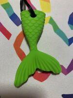 Chewelry Sensory Chews Autism ASD Necklace Chewlry ADHD SEN Mermaid Tail Green