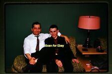 Young Man in Living Room in 1959, Original Kodachrome Slide aa 2-30b