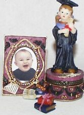 Graduation Girl-Resin Hinged-Box w/ Picture Frame Attached-Great Keepsake Idea!