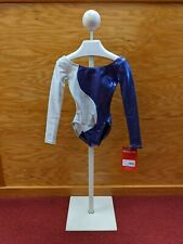 Mondor Long Sleeve Gymnastics Leo Purple Silver Color Block holographic
