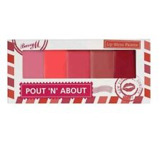 New Barry M Cosmetics Pout 'n' About Lip Gloss Palette 5 Shades & Brush 8g