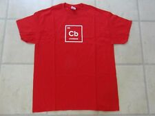 NEW NO TAGS MEN's PROMOTIONAL LARGE  RED & WHITE SHORT SLEEVE TOP - 'CODEBASE'
