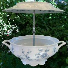 Bird Seed Feeder, Thistle Feeder, Vintage China, Bavarian Blue, Gift for Mom,