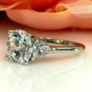 2.50 ct Round Brilliant Cut Diamond Wedding Ring Hallmark 14k White Gold