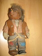 seltere Mecki Puppe Igelmann Steiff Pappmaschee Stroh RAR old doll
