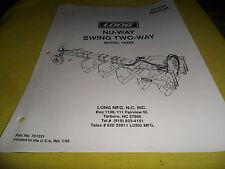 (Drawer 15) Long 1836B Parts Manual NU-Way Swing Two Way
