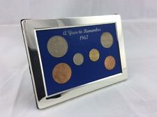 51st Birthday Present - 1967 Luxury, Silver Framed, Coin Year Boxed Gift Set