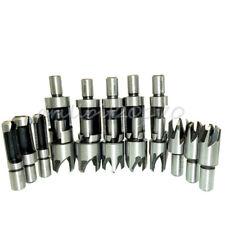 16pc Sae Metric Wood Plug Cutter Cutting Drill Bits Dowel Maker Plug Hole Cutter