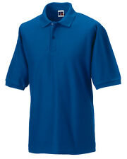 539M Russell Mens' Classic Poloshirts, Royal Blue, Size M - Pack of 3