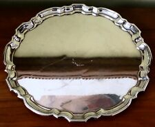 "Vintage TIFFANY &Co Sterling Silver 10"" Chippendale SERVING TRAY PLATTER 22.9 OZ"