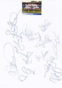 Bury FC - Signed Team Sheet - COA (14925)