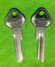 OEM DODGE KEY BLANKS NOS 1949-51  (2)TRUNK for 1949-1951 DODGE