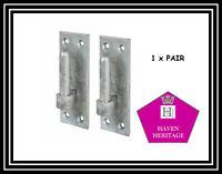 1 x Pair 12 mm Heavy Duty Pin Hook on Plate Bracket Gate Hinge Galvanised