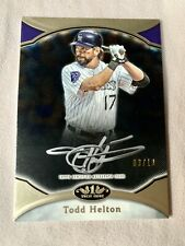 2020 Topps Tier One SILVER INK Todd Helton Prime Performers Autographs AUTO 3/10