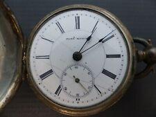 Silver Pocket Watch Antique Plan Watch Coin