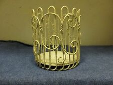 Unusual Decorative 1940's Gold Confetti Metal~Candle~Light~ Plant~Base Holder