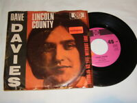 """7"""" Dave Davies Lincoln County & There is no life without Love - 1968 # 1595"""