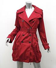 BURBERRY Womens Classic Red Belted Hooded Trench Rain Coat Jacket US 6/UK 8