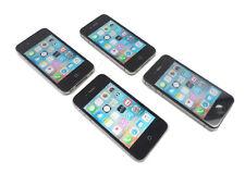 Lot of  4 Apple iPhone 4s 16GB, 8GB Black A1387 2430 Clean ESN 100% Genuine