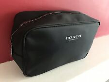 🆕COACH WASH TOILETRY BAG Black POUCH FOR TRAVEL Men's New And Sealed