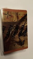 Gun Rifle Bullets Western VTG pinochle playing cards sealed