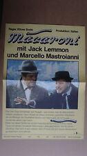 (D04) DDR-Kinoplakat MACARONI Jack Lemmon / Marcello Mastroianni